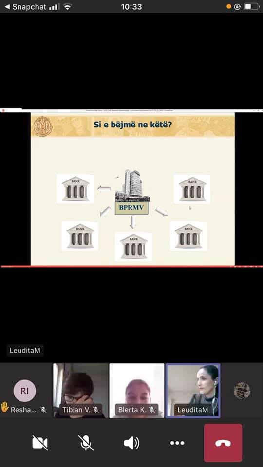 Prezantime arsimore për edukim finansiar të Bankës Popullore të Republikës së Maqedonisë së Veriut